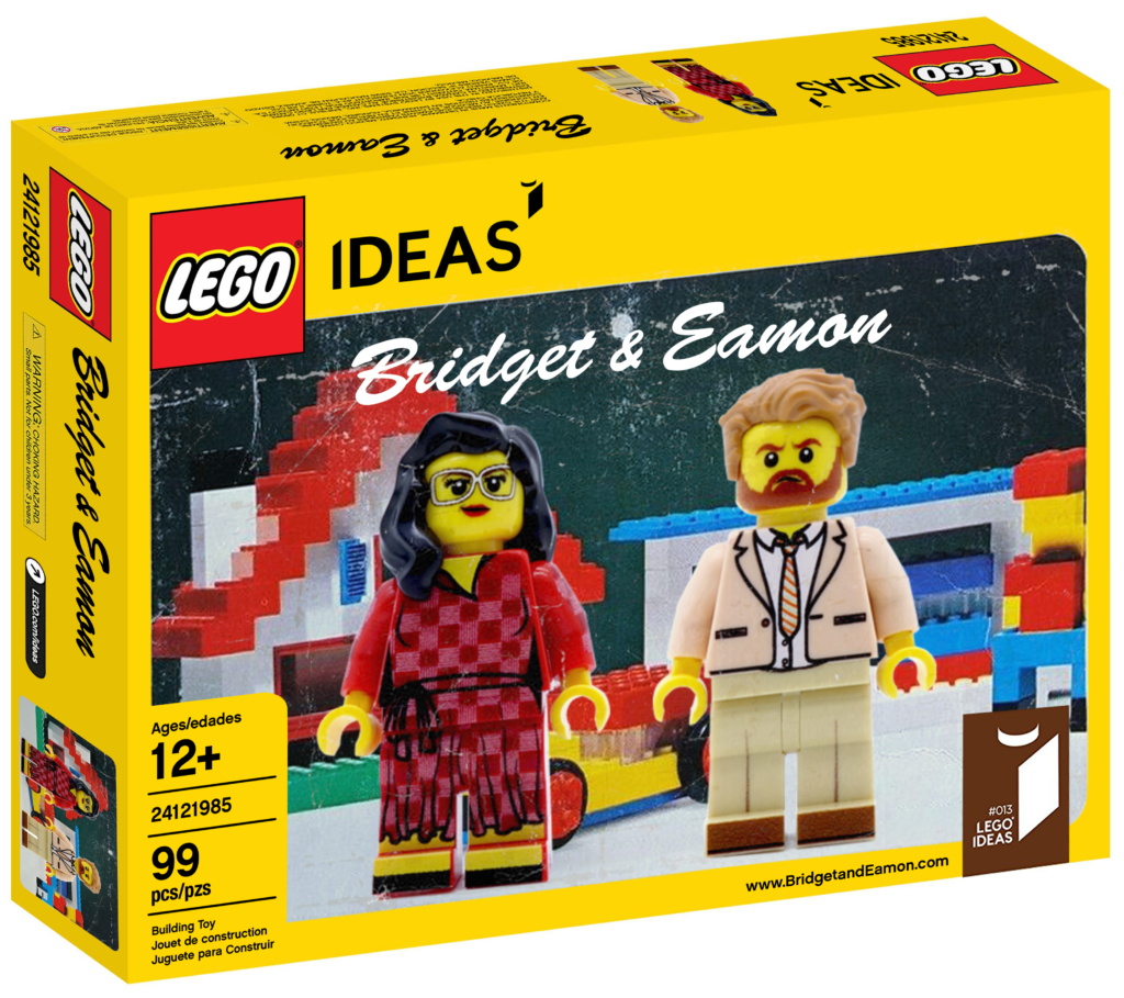 Bridget and Eamon Lego set box